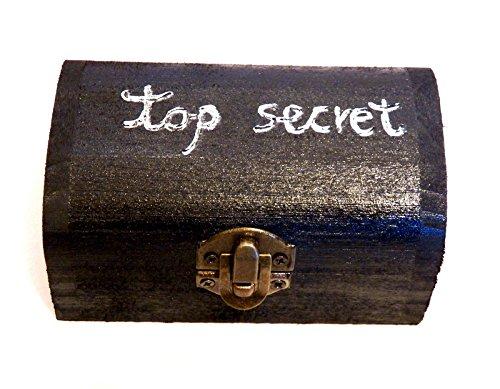 Top Secret Box, Almohadilla del anillo de boda, Portador de anillo, Caja de