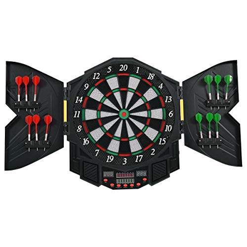 Abbeydh Professional Electronic Dartboard Set with LCD Display ()