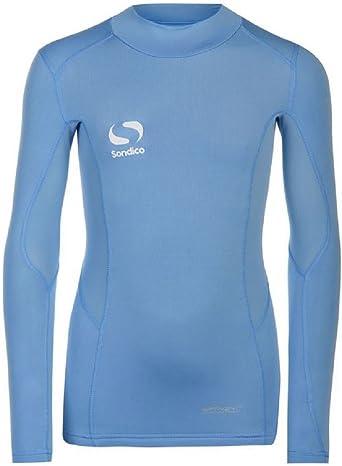 Sondico - Camiseta térmica - para niño Azul Azul Celeste 7-8 años: Amazon.es: Ropa y accesorios