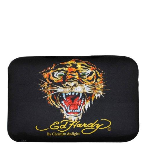 Ed Hardy Tiger Bill Laptop Sleeve - Black - Medium