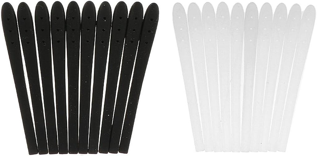 MagiDeal 10 St/ück Silikon Antirutsch /Überz/üge f/ür B/ügelenden//Brillenb/ügel Silikon Socke