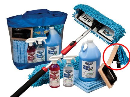 Waterless RV Aircraft Boat Wash Wax Mop Kit with Bug Scrubber / Mini Mop No Ladder Needed Wash Wax Dry Anywhere Anytime No Restrictions by Aero Cosmetics