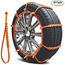 Snow Chains, Anti-skid Tire Chains Anti Slip Snow Tire Chains for Cars and SUVs Anti-slip Chain 20PCS