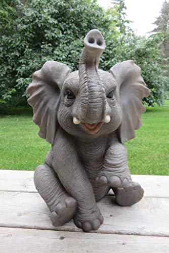 - Elephant Baby Sitting With Trunk Up