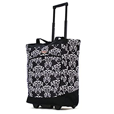 Olympia Fashion Rolling Shopper Tote DB from Olympia Luggage