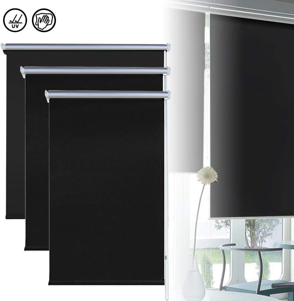 FROADP Tenda a Rullo Avvolgibile Oscurante per Finestra Rullo oscuranti Termica montabile Senza Viti per Windows 70 x 160 cm, Bianca