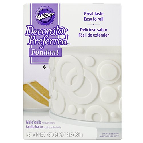 Wilton Decorator Preferred White Fondant, 24 oz. Fondant (Satin Ice Rolled Fondant)