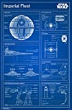 "Trends International Star Wars Imperial Blueprint Wall Poster 22.375"" x 34"""