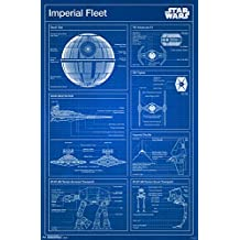 Trends International RP14459 Star Wars Imperial Blueprint Wall Poster