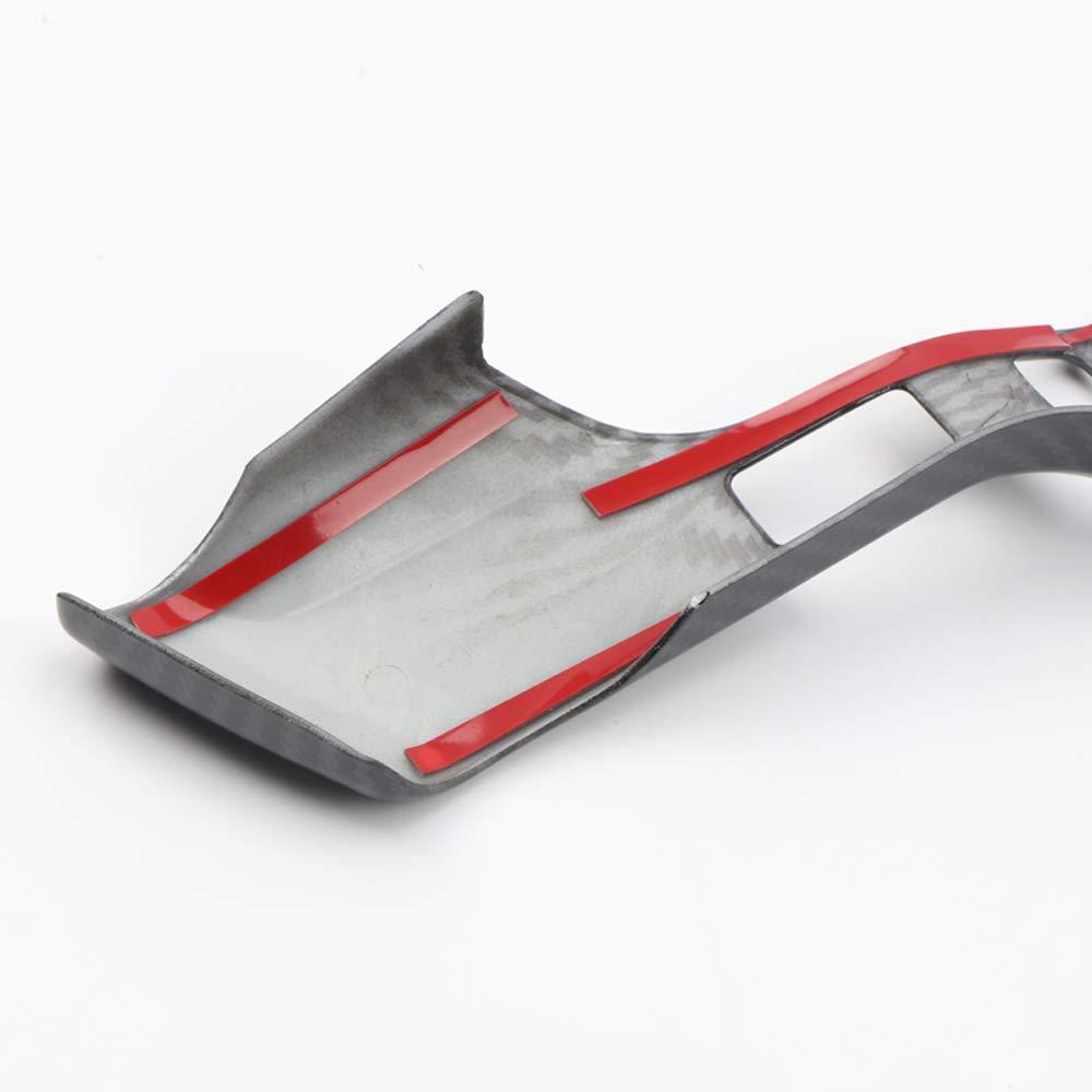 YUZHONGTIAN 2014-2019 for Toyota 4Runner Car Inner Accessories Steering Wheel Strip Decor Trim ABS 2PCS Carbon Fiber Style