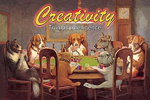 Poker Play Dog (Can Dogs Play Poker Does it Matter Poster Print by Wilbur Pierce (18 x 24))