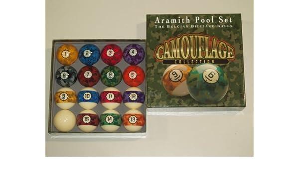 Aramith 2 1/4 American Camuflaje Bolas de Billar * *: Amazon.es ...