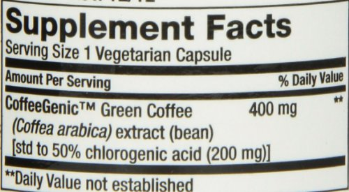 CoffeeGenic Green Coffee Extract 400 mg - 90 - VegCap (Pack of 3) by Life Extension (Image #2)