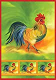 Toland Home Garden Rooster 28 x 40 Inch Decorative Colorful Bird Collage House Flag For Sale