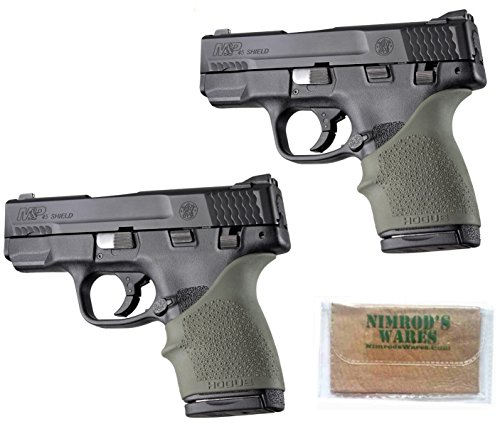 Nimrod's Wares 2-Pack Hogue Bersa Thunder 380 SR22 PK380 PPK/S 380 Grip Sleeves ODG Microfiber Cloth