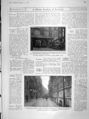 old-original-antique-victorian-print-1906-motor-fire-brigade-lee-verboden-holland-gould-war-837m174