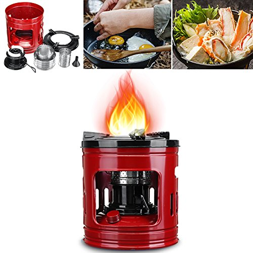 ThyWay Cooking Stove, Portable Cooking Stove Outdoor Pocket 8 Wicks Kerosene Stove Burner for Camping Heaters Equipment