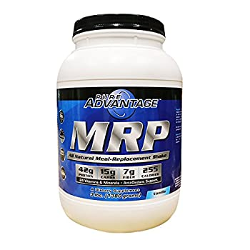 Pure Advantage MRP All Natural Meal Replacement Shake Powder, Vanilla, 3 Pounds
