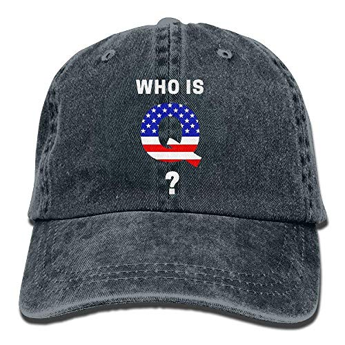 Qanon Who is Q Dad Hat Adjustable Denim Hat Classic Baseball Cap -