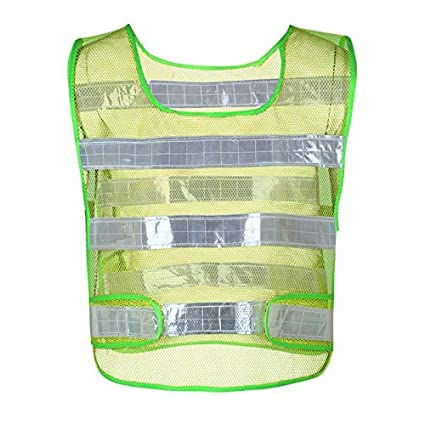 63c5f1a0df553 Image Unavailable. Image not available for. Color: BlueShy9999 - Summer  Mesh Reflective Running Vest Working Clothes High Visibility Day Night ...