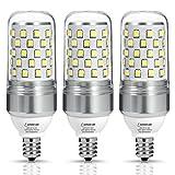 75 watt ceiling fan bulbs - Light Bulbs Candelabra Base E12 LED, LOHAS Daylight 5000k White Light, 85W Equivalent(9W LED Bulb), Transparent Candle Ceiling Fan Lighting, 900 Lumens, Not-Dimmable Chandelier Light(Pack of 3)