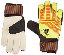 adidas Predator Junior Soccer Gloves,Solar Yellow/Solar Red/Black,Size 4