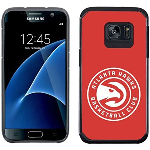 SAMSUNG GALAXY S7 CASE - Official NBA Licensed NetGen Team Logo Dual Layer Hybrid Cellphone Case (Atlanta Hawks) Sales