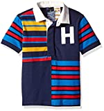 Tommy Hilfiger Boys' Polo Shirt with Magnetic Buttons, peacoat X-Large
