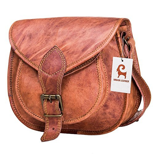 "Cross Body Saddle Bag Purse for Women Purses and Handbags Women's Crossbody Satchel Leather Sling Bags on Sale Woman Brown Tote Hand Bag With Natural Texture For Girls No Foul Smell Small Size 10"" (Usa Leather Small)"