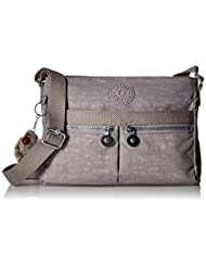 Kipling Angie Messenger Bag, Slate Grey, One Size