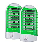 Ausaye Bug Zapper 2 Packs,Mosquito Killer Lamp Mosquito zapper,Electronic Insect Killer,Plug in Bug Zapper,Indoor Bug Zappers,Night Lamp