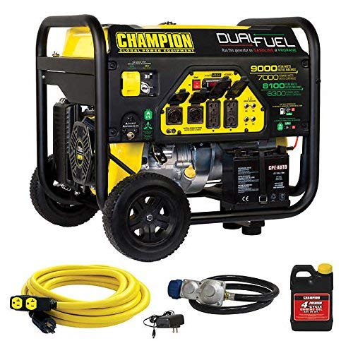 100155- 7000/9000w Renewed Champion Dual Fuel Generator