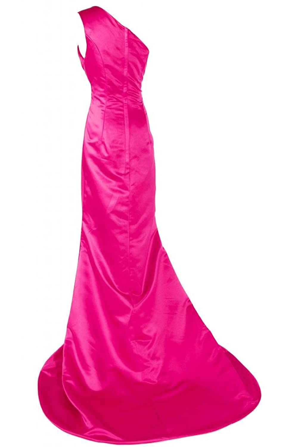 Sunvary Chic One-shoulder Satin Evening Dresses Pageant Dress Prom Party Maxi Gowns