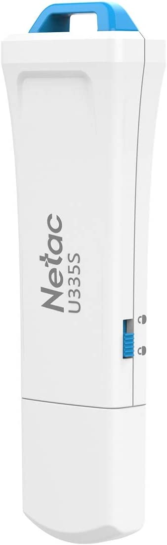 Netac 64GB USB Flash Drive, USB 3.0 Flash Drive with Physical Write Protect Switch, USB Stick, Thumb Drive, Pen Drive, Memory Stick for PC/Laptop/PS4/External Storage Data/Digital Photo/Video - U335S