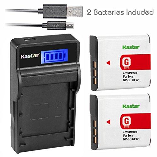 - Kastar Battery (X2) & Slim LCD USB Charger for Sony NP-BG1 NP-FG1 NPBG1 and Cyber-shot DSC-HX5V HX7V HX9V HX10V HX30V DSC-W120 W150 W220 DSC-H3 DSC-H7 DSC-H9 DSC-H10 DSC-H20 DSC-H50 DSC-H55 DSC-H70