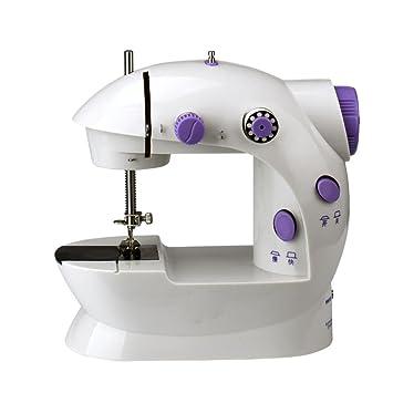 Zarupeng Mini máquina de coser de escritorio portátil eléctrica de alta velocidad de mano del hogar