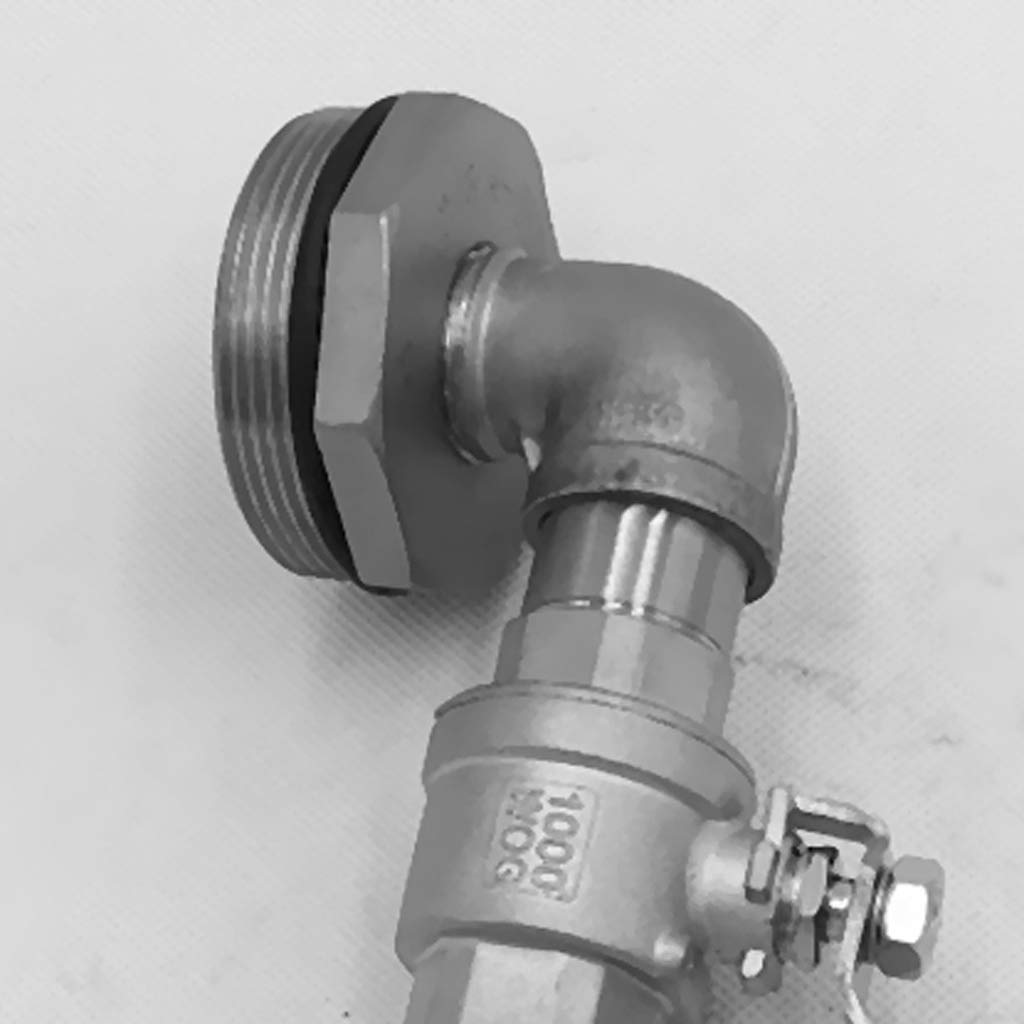 Milageto 2 Sets Drum /& Barrell Faucet 304 Stainless Steel 2 DN50 Adapter 20mm Outlet