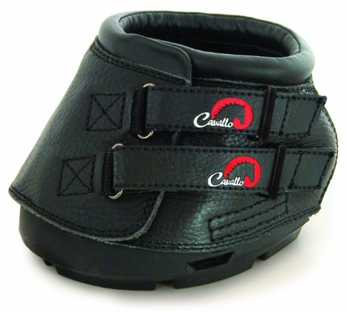 Cavallo Simple Hoof Boot for Horses, Size 1, Black
