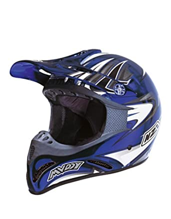 NZI Casco Integral Motocross Muddy Cromo Cab Azul XL (60-61 cm)