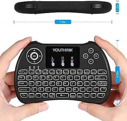 Mini teclado retroiluminado, 2,4 GHz, mini teclado inalámbrico con Touchpad para PC, Pad, HTPC, IPTV: Amazon.es: Bricolaje y herramientas