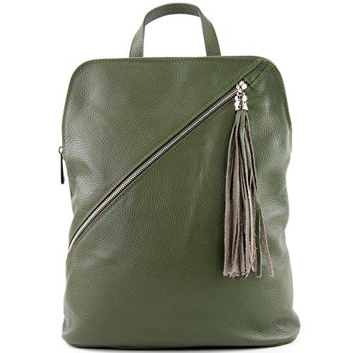 zaino in pelle zaino 3in1 zaino Citybag T141, Präzise Farbe (nur Farbe):T161 Oliv