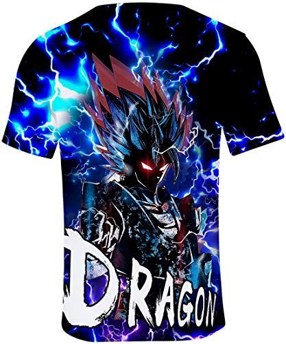 Flychen 1618 T 3d Super Homme Impression Goku À Son Manches Ball Dragon Courtes shirts rrOUWS