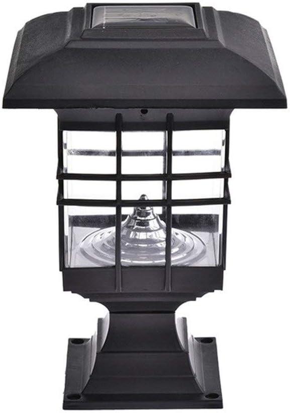 Pcqre tratamiento antioxidante anti IP55 a prueba de agua moderna Luz solar al aire libre pilar del paisaje jardín de la luz decorativa Columna iluminación de la lámpara LED Linterna Patio Villa