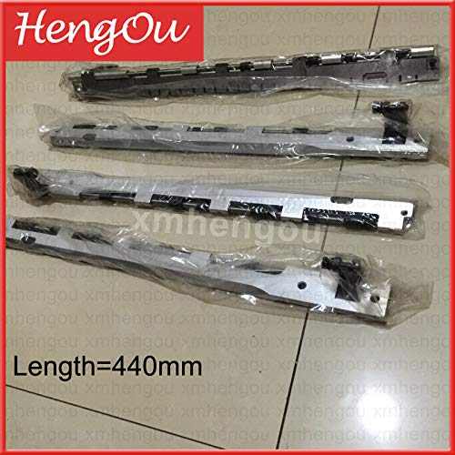 Ochoos 4 pieces Good Quality Hengoucn Printing Machine Parts GT-1304 Gripper Bar 13x18 T-Platen Press 440mm