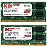 Komputerbay 8GB (2x 4GB) DDR3 SODIMM (204 pin) 1333Mhz PC3-10600 (9-9-9-24) Laptop Notebook Memory for Apple iMac