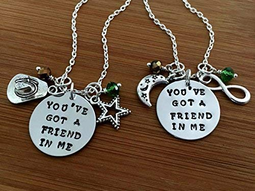 Toy Story inspired Friendship necklace//Youve got a friend in me//Best friend necklace//Friendship necklace set//BFF jewelry