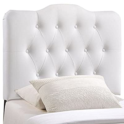 Modway Annabel Twin Upholstered Vinyl Headboard in White
