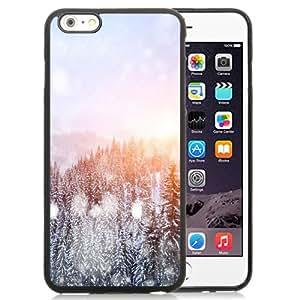 DIY TPU Phone Case Winter Sunrise Snow Forest Trees iPhone 6 Plus 5.5 inch Wallpaper