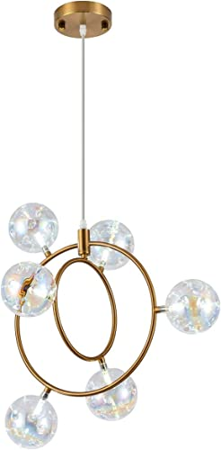 Modern LED Sputnik Chandelier Contemporary Intertwined Ring