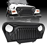 jeep wrangler grill cover - IPARTS Matte Black Gladiator Grille Cover Vader Grill w/ Mesh Inserts for Jeep Wrangler TJ 1997-2006 Rubicon Sahara Sport